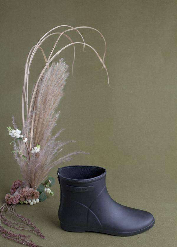 Alice + Whittles Rubber Boot - Black on Black