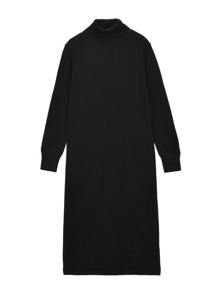 PURE CASHMERE NYC Turtleneck Maxi Dress - Black
