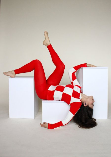 Tyler McGillivary Emma Top - Red/White