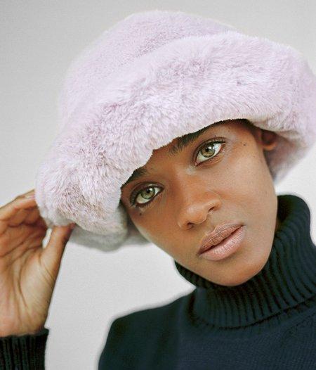 Clyde Faux Fur Bucket Hat - Violet