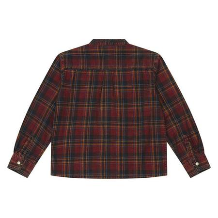 KIDS Bonton Child New Shirt - Velvet Red Plaid