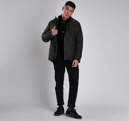 Barbour International Waxed Cotton Jacket - Forest