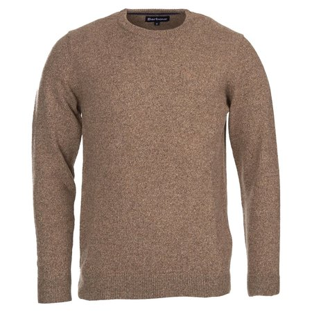 Barbour Tisbury Crew Neck Wool Sweater - Sand