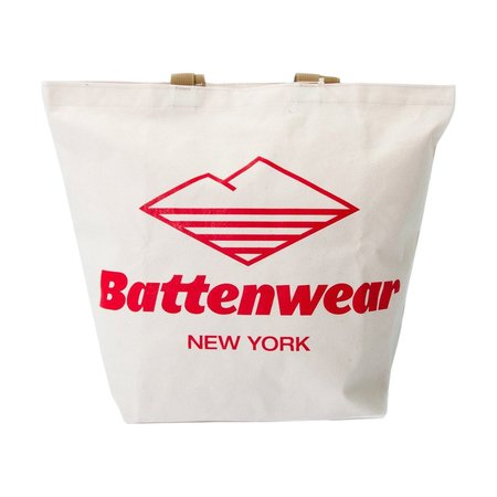 BAttewear Logo Print Canvas Tote - Natural