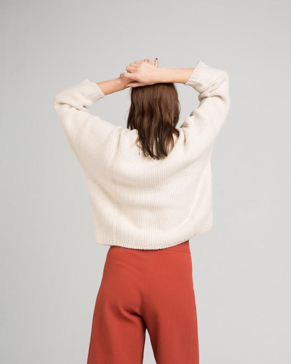 Micaela Greg Woven Stitch Alpaca Sweater