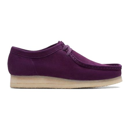 Clarks Wallabee Mens Originals Shoes - Deep Purple