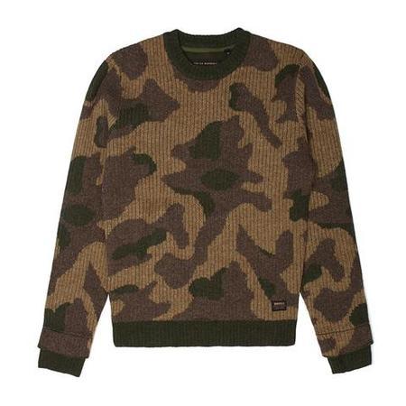 DEUS Ex Machina Crew Wool Sweater - Camo