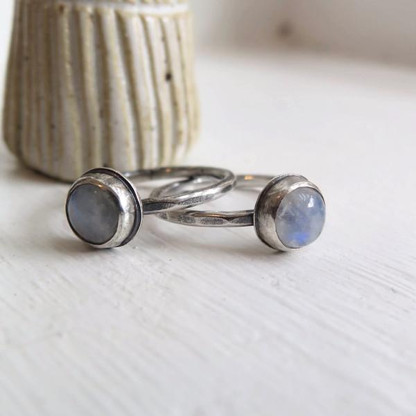 Gem spell Moonstone Stacker Ring