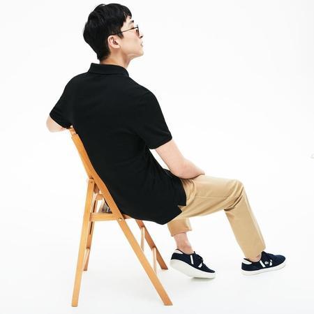 Lacoste Men's Slim fit petit piquè Polo Shirt - Black