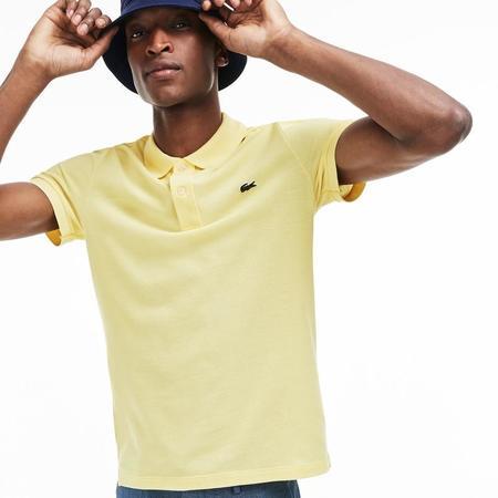 Lacoste Men's Slim fit petit piquè Polo Shirt - Yellow