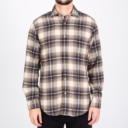PORTUGUESE FLANNEL Supply Shirt - Grey/beige/black