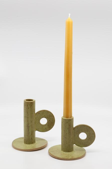 The Great Escape Studio Loop Candle Holder - Matcha
