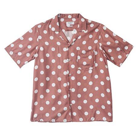 PRESIDENT'S Rangi Short Sleeve P's Silk Shirt - Dot Rose