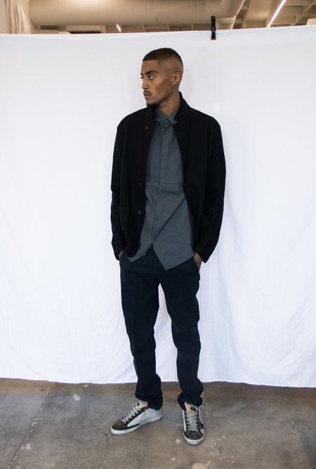 Transit Lighweight Wool Blazer - Black