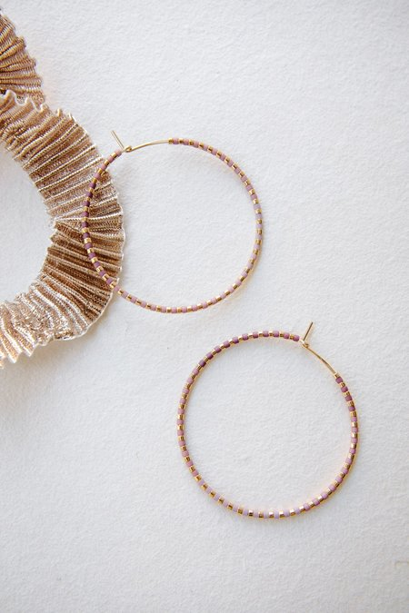 abacus row Progressions  Large Hoops - Limited Edition Gold