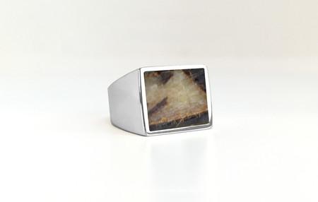 Unisex Legier Dragonstone (Septarian) Stone Signet Ring