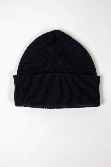FOLD Wool Beanie - Navy