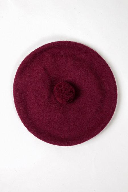 FOLD Wool Beret - Burgundy