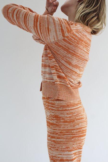 Beklina Cotton Knit Cardigan - Terracotta