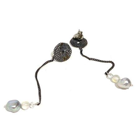 Studio Method Simple Chain Charm Dangle Earrings