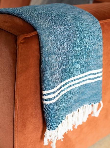 House No 23 Sima Towel - DEEP BLUE
