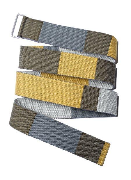 UNDERCOVER Tape Belt - Multi Color/Khaki Base