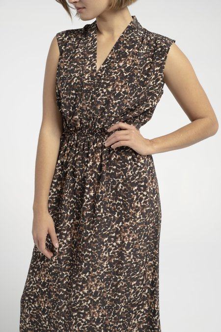 No.6 Livia Dress - Brown Jungle