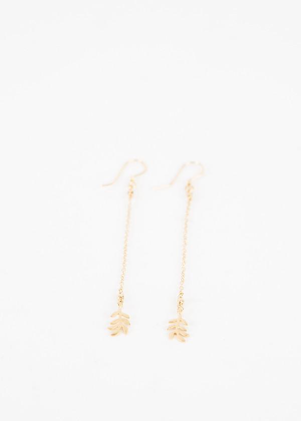 5 Octobre Long Leaf Earrings