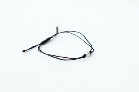 Grace Lee Pearl Silk Cord Bracelet