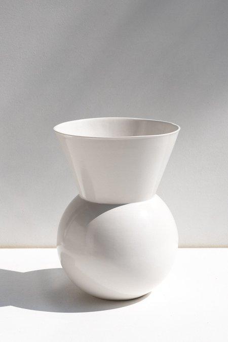 Gidon Bing Large Bulb Vase - White
