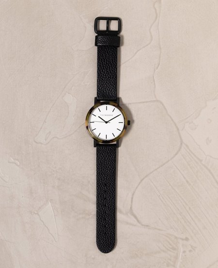 The Horse Face Watch -  Black/Brown Tortoise/White