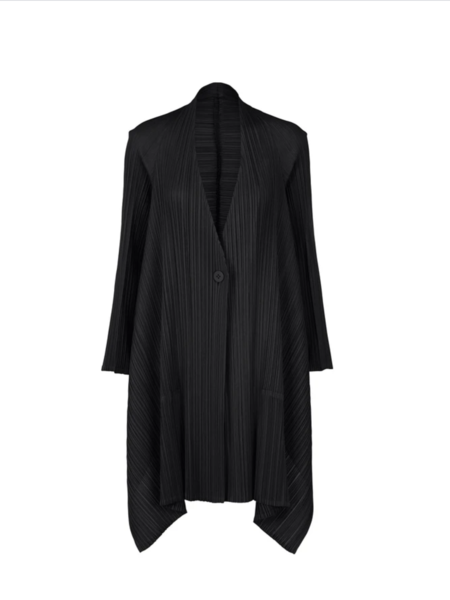 Pleats Please by Issey Miyake Echo Coat - Black