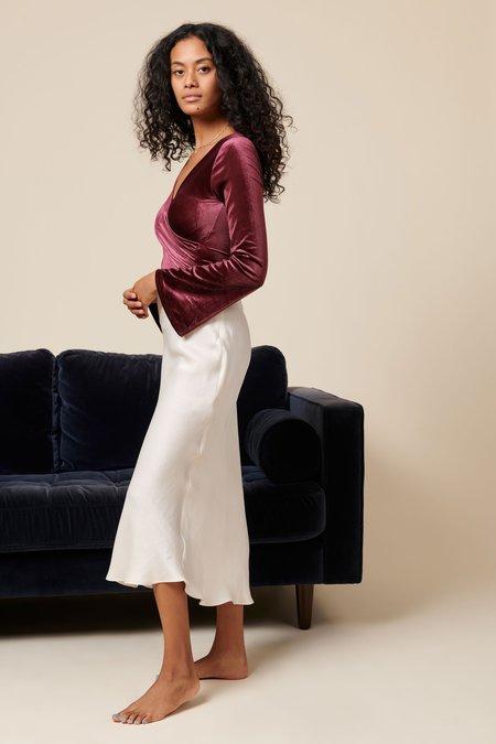 Whimsy + Row Alyssa Velvet Bodysuit - Plum