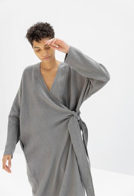 Lauren Manoogian Wrap Dress - Shale