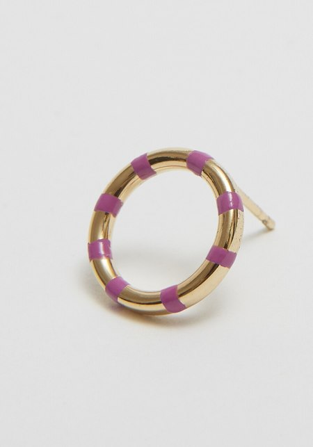 A. Carnevale Striped Front Hoops - Purple