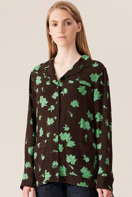 Ganni Printed Crepe Shirt