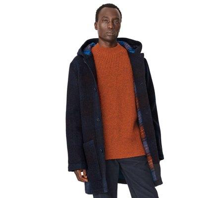 YMC Beat Generation Wool Duffle Coat - Navy