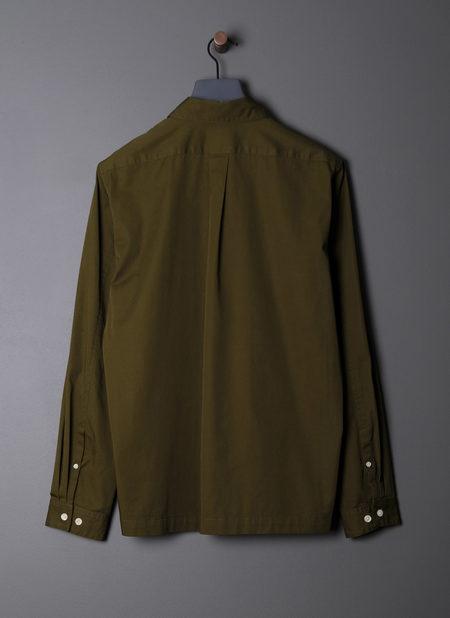 Grei. L/s Box Shirt - Dark Olive