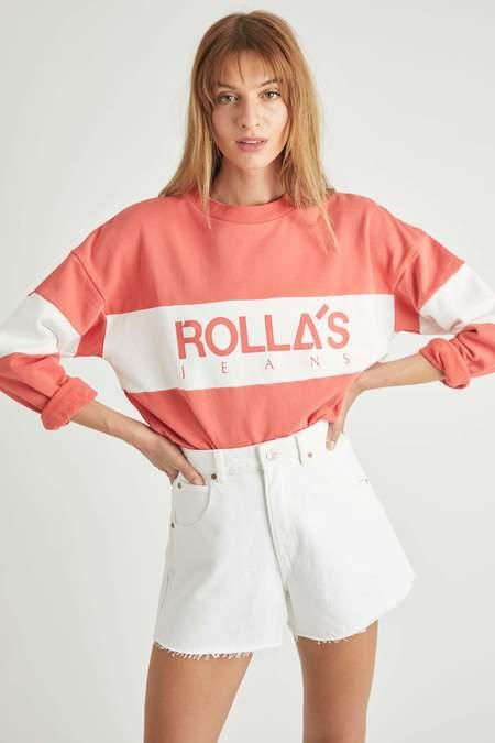 Rollas Logo Split Sweater