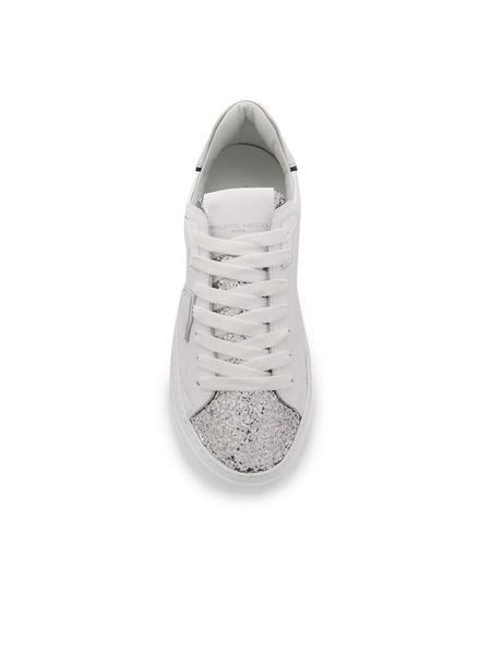 Philippe Model Temple Sneaker - Glitter Blanc