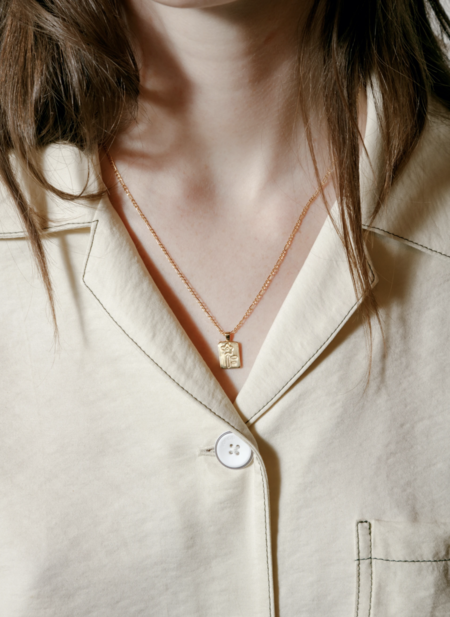 Wolf Circus Meadow Necklace - Gold