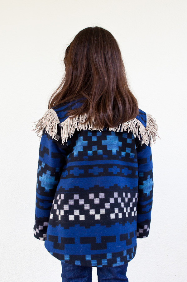 Kid's boy+girl FRINGE COAT