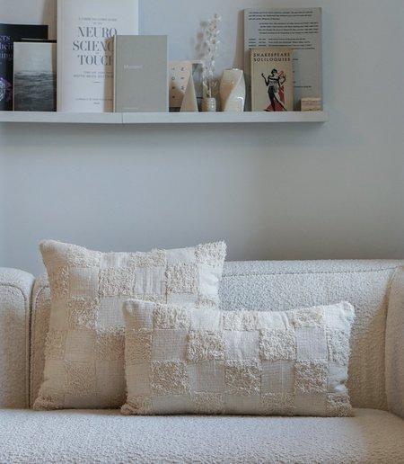 Maaari Checkered Terry Pillow