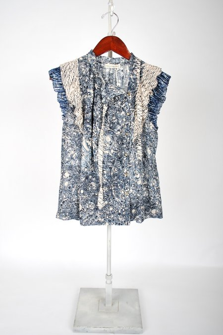 Ulla Johnson Haru Top - Indigo