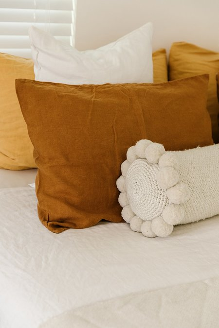 Monte Bolster Pom Pom Cushion - #11