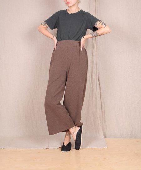 blok hill Beaumont Organic-Winona Organic Cotton Trousers - BROWN MARLE