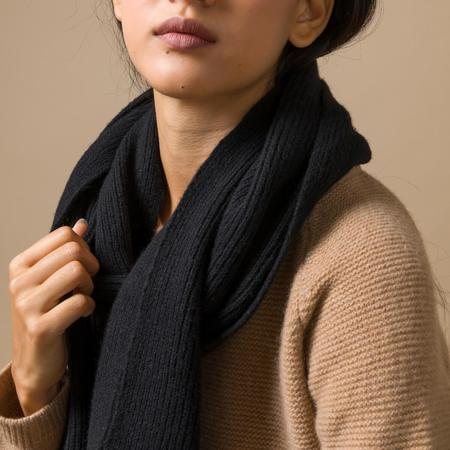 rifo recycled cashmere scarf - Black