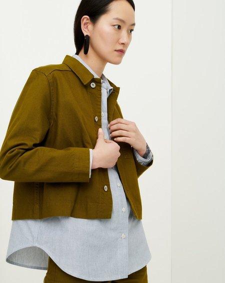 Kowtow Direction Jacket - Olive Denim