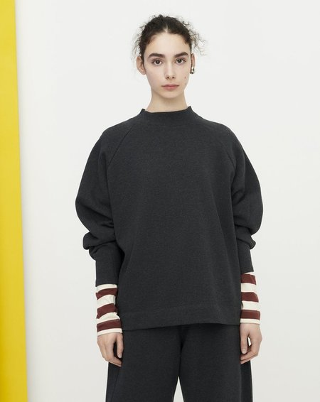 Kowtow Linear Sweatshirt - Charcoal Marle