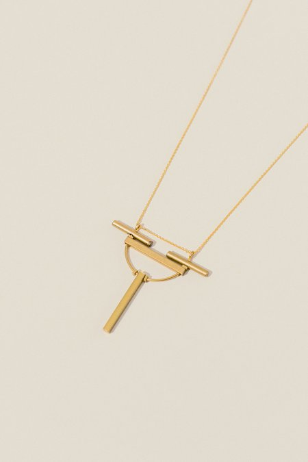 Jenevier Blaine Modern Minimalist Bars Necklace